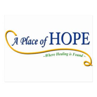 Ort des Hoffnungs-Logos Postkarte