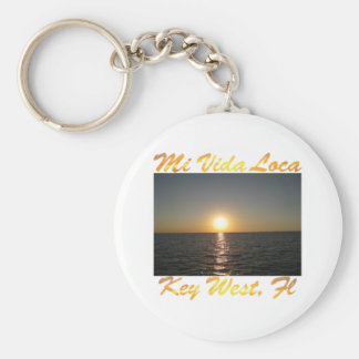 Orte Key West Florida #013 MI Vida Standard Runder Schlüsselanhänger