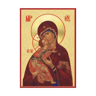 Orthodoxe Ikone - Vladimir Mutter des Gottes Leinwanddruck