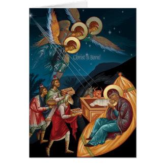 Orthodoxe Weihnachtskarten Karte