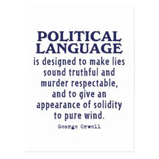 Orwell auf politischer Sprache Postkarten