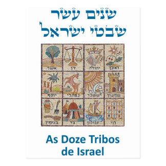 OS Brasões DAS dösen Tribos De Israel Postkarte