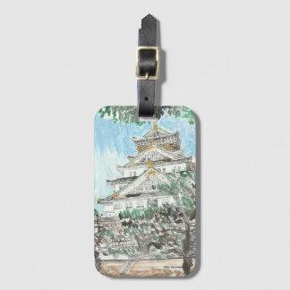 Osaka-Schloss-Japan-Gepäckanhänger mit Kofferanhänger