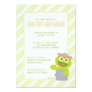 Oscar l'invitation de baby shower de rouspéteur carton d'invitation  12,7 cm x 17,78 cm