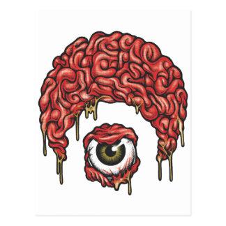 Osiris Gehirn-Ikone Postkarte
