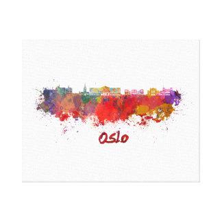 Oslo skyline im Watercolor Leinwanddruck