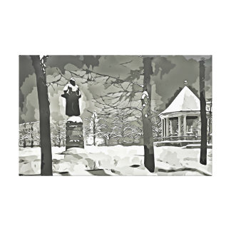 Oslo, Vintager Foto-Leinwandschwarzweiss-druck Leinwanddruck