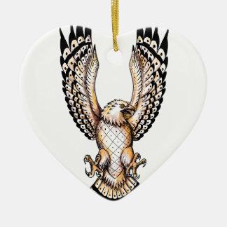 Osprey, der vordere Tätowierung Swooping ist Keramik Ornament