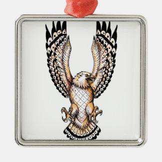 Osprey, der vordere Tätowierung Swooping ist Silbernes Ornament
