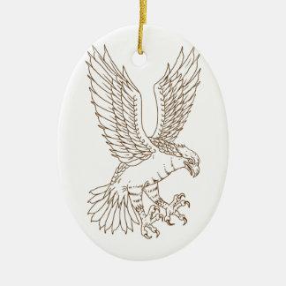 Osprey-Swooping Zeichnen Keramik Ornament