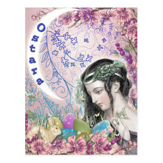 Ostara heidnische Fantasie-Kunst-Postkarte Postkarte