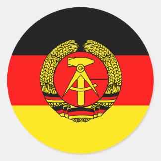 Ostdeutschland, Flagge Runder Aufkleber