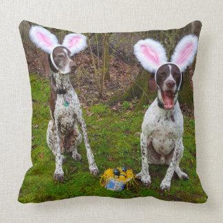 Osterei-Jagd-und Party-Hundequadratisches Kissen