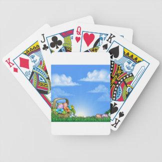 Osterei-Korb-Hintergrund Spielkarten