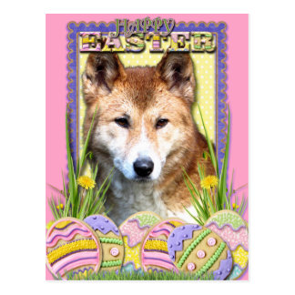 Osterei-Plätzchen - Dingo Postkarte