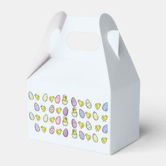 Ostereier und Küken gefalteter Bevorzugungs-Kasten Geschenkschachtel