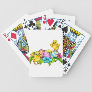 Ostereier und Küken Spielkarten