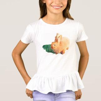 """OSTERHASE"" der Mädchen kräuselt T - Shirt"