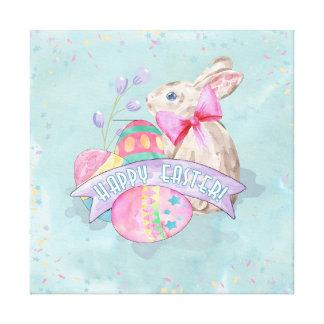 Osterhase, Eier und Confetti ID377 Leinwanddruck
