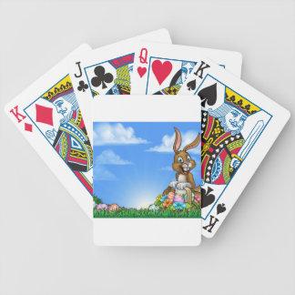 Osterhase und Ei-Hintergrund Pokerkarten