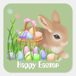 Osterhase und Eier Feiertags-Partyaufkleber