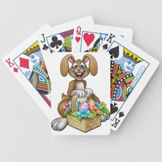 Osterhasen-Cartoon-Charakter Poker Karten