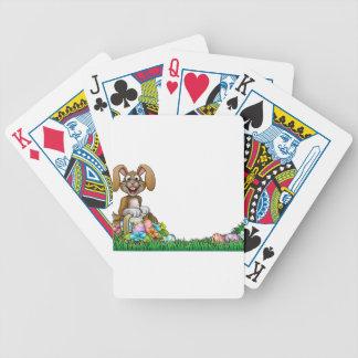 Osterhasen-Ei-Jagd-Hintergrund Pokerkarten