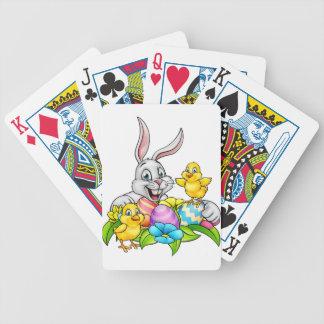 Osterhasen-Eier und Küken Pokerkarten