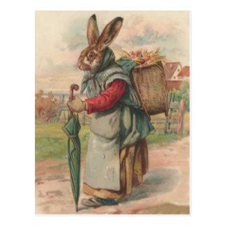 Osterhasen-farbiger gemalter Ei-Regenschirm Postkarten