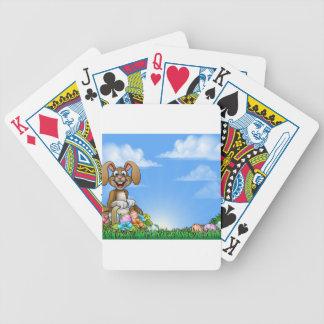 Osterhasen-Hintergrund Spielkarten
