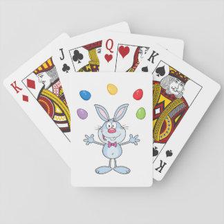 Osterhasen-jonglierende Eier Spielkarten