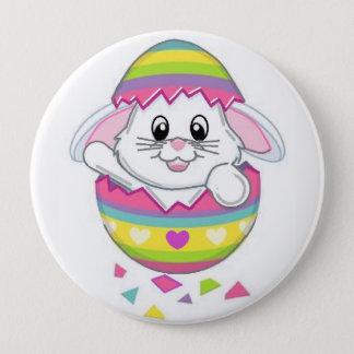 Osterhasen-Kaninchen-Knopf-Button auf dem Frühling Runder Button 10,2 Cm