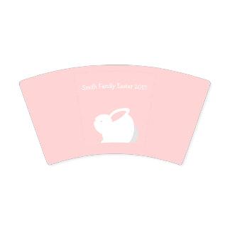 Osterhasen-Papier-Rosa-Papier-Teller mit Ihrem Pappbecher
