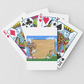Osterhasen-Zeichen Poker Karten