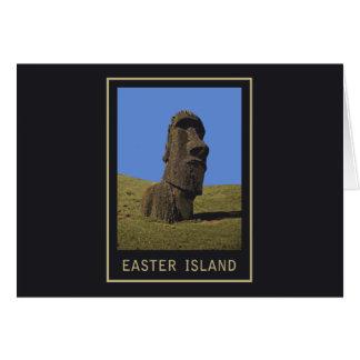 Osterinsel Moai Karte