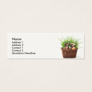 Ostern-Chihuahuawelpen Mini Visitenkarte