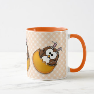 Ostern-Eule - Orange Tasse