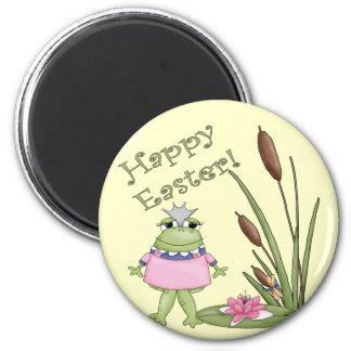 Ostern-Frosch-T-Shirts und Ostern-Geschenke Runder Magnet 5,1 Cm