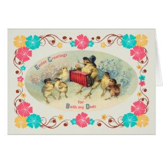 Ostern für beide Vati-Vintagen musikalischen Küken Grußkarte