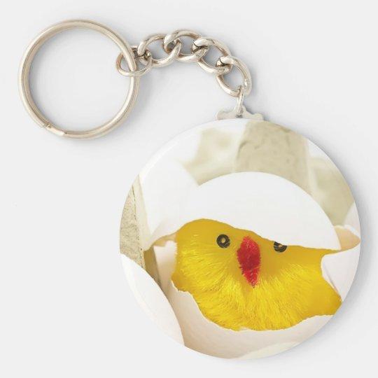 Ostern-Huhn Keychain Standard Runder Schlüsselanhänger