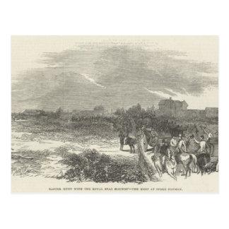 Ostern-Jagd mit den königlicher Hirsch-Jagdhunden Postkarte