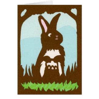 Ostern-Kaninchen-Gruß-Karte Karte
