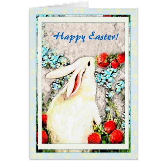 Ostern-Kaninchen-Häschen-Hase-Karte Grußkarte
