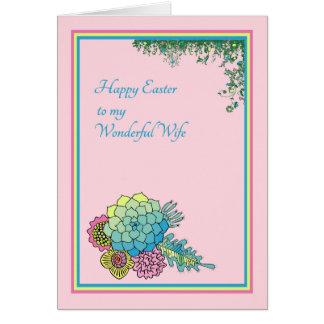 Ostern-Karte für eine wunderbare Ehefrau Karte