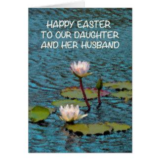 Ostern-Karte für Tochter-und Ehemann-Wasser-Lilien Karte