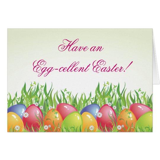 Ostern-Karte - haben Sie anEgg-cellent Ostern! Mitteilungskarte