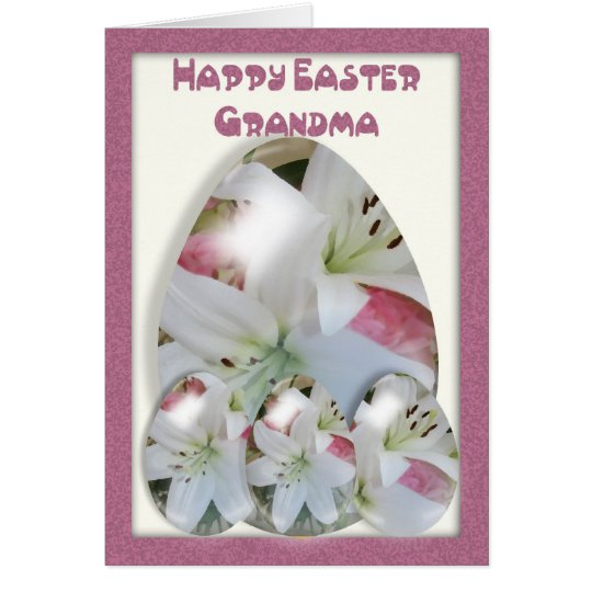 Ostern-Karten-Großmutter, wird lillie Ostereier Karte