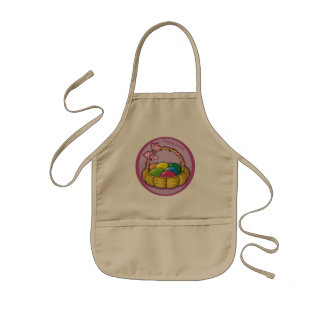 Ostern-Korb-T-Shirts und Ostern-Geschenke Kinderschürze