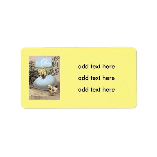 Ostern-Küken-Ei-Baumwolle Adressaufkleber