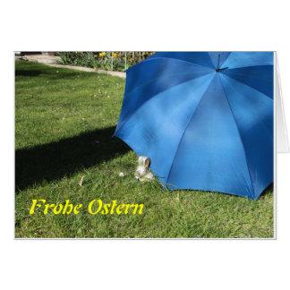 Ostern mit dem Blauen Schirm Grußkarte